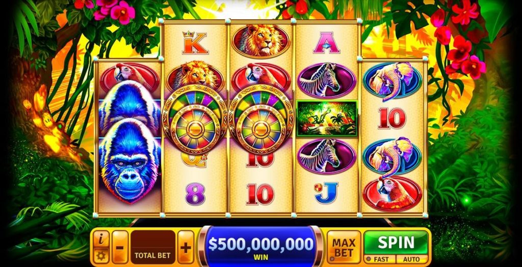 Spin the Win-Win Jackpot Wheel in the New Gorilla Grand Slots Game